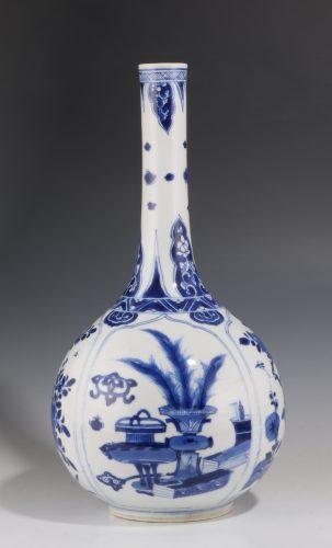 Kangxi Blue and White Bottle Vase C1700