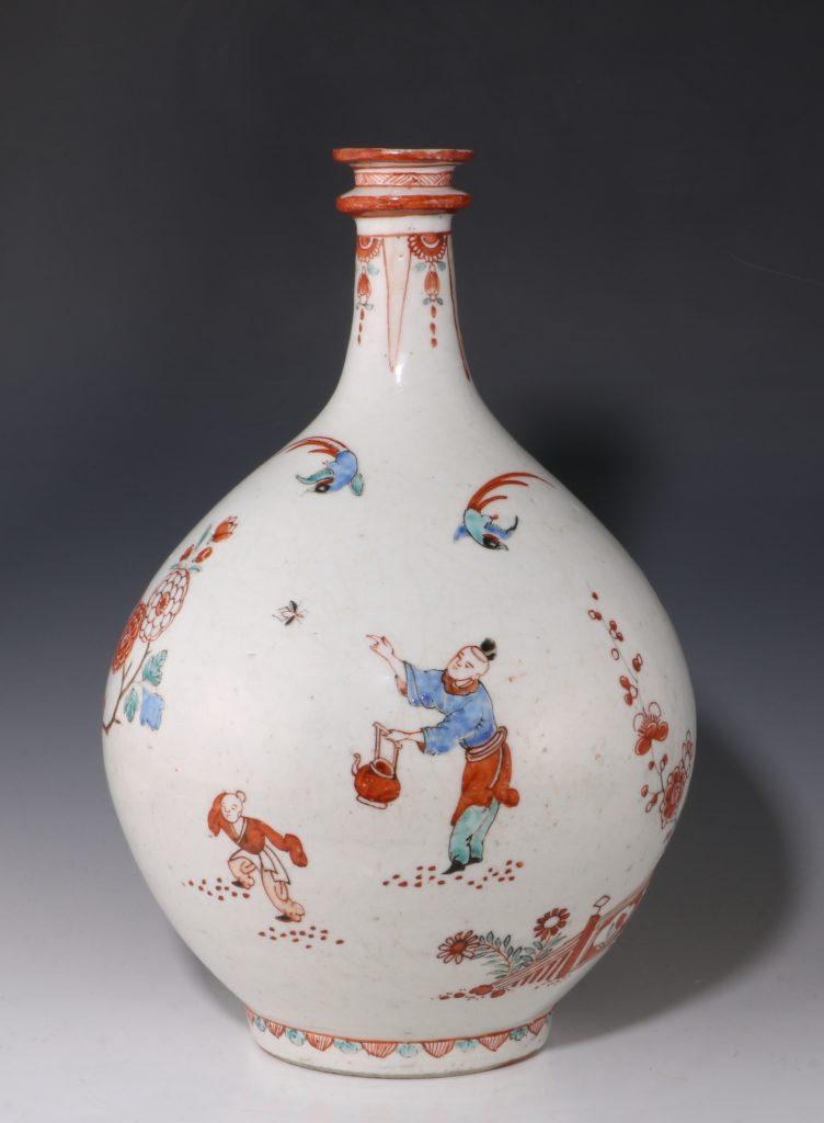 Dutch Decorated Japanese Arita Apothecary Bottle 17/18thC