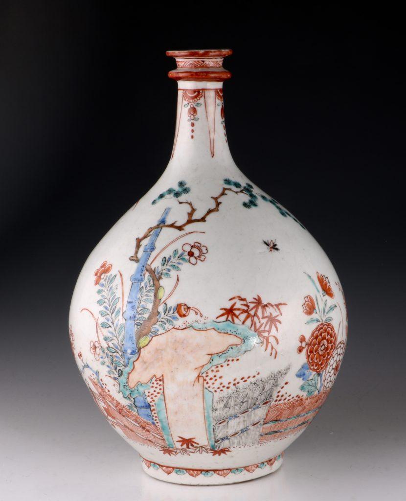 Dutch Decorated Japanese Arita Apothecary Bottle 17/18thC 4