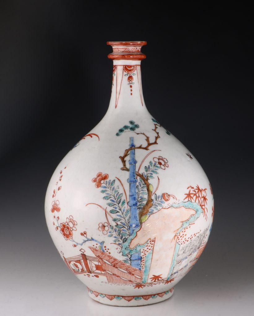 Dutch Decorated Japanese Arita Apothecary Bottle 17/18thC 5