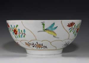 Worcester Outside Decorated Bowl C1770