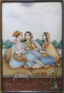 Fine Indian Painting on Ivory 19thc