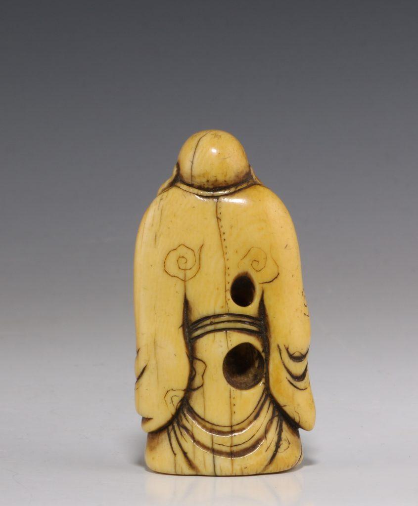 Japanese Ivory Netsuke of Hotei 18/19thC 3