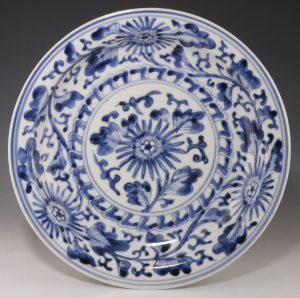 Japanese Arita Blue and White Plate E18thC