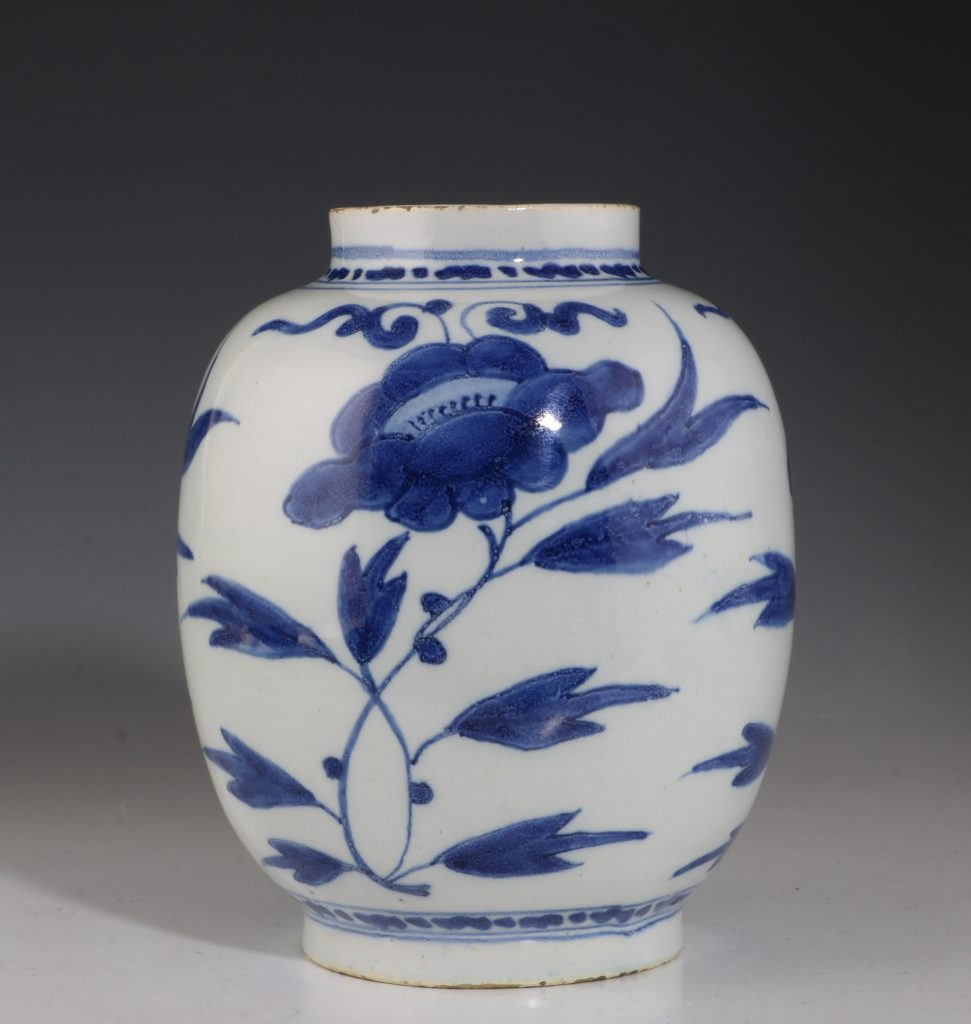 Dutch Delft Blue and White Small Jar L17thC