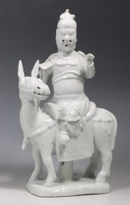 Blanc de Chine Figure of Guandi Kangxi L17thC
