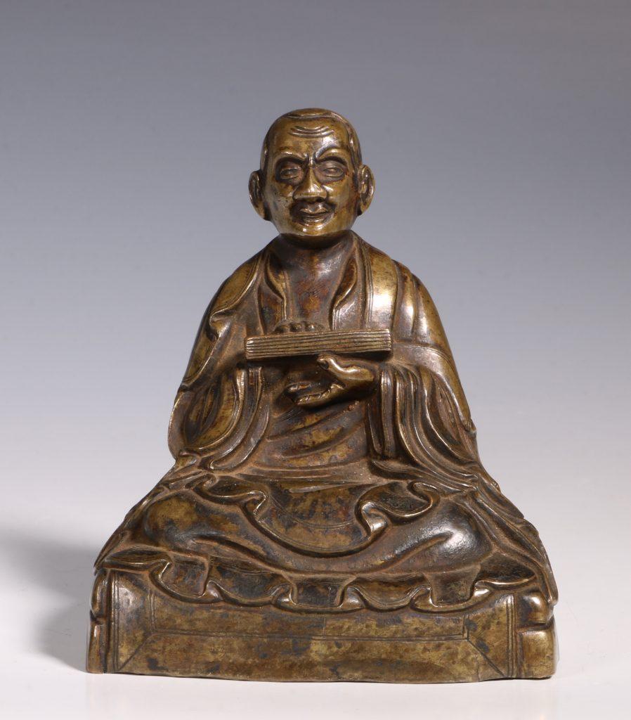 Tibetan Repousse Bronze Figure of Gopaka 17thC 1