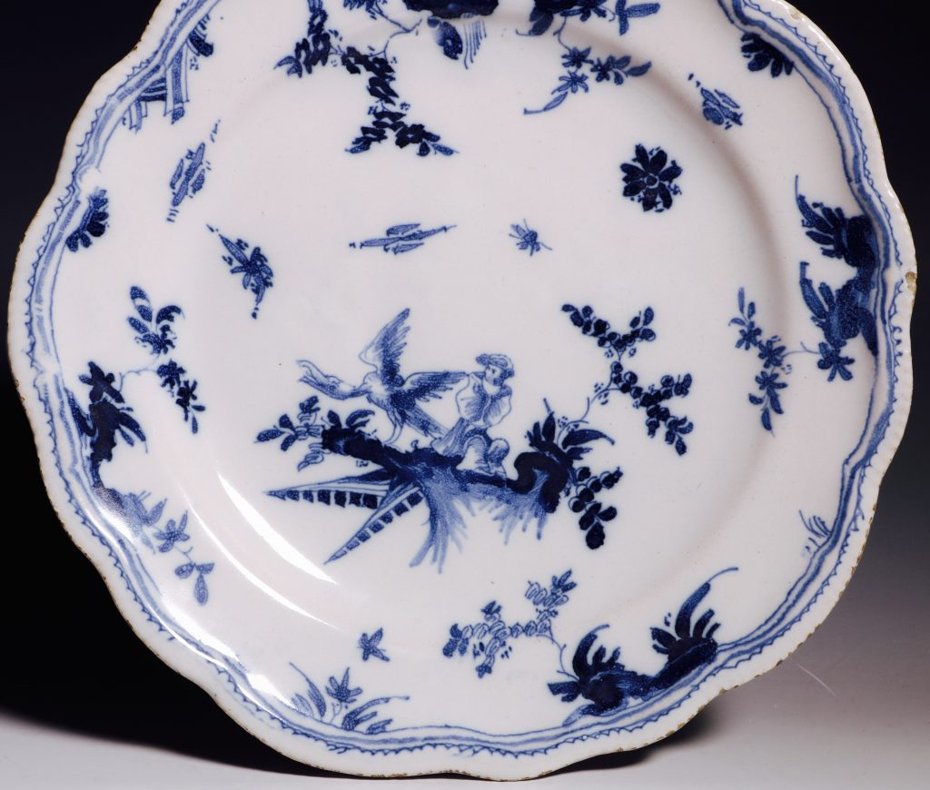 A French Faience Blue and White Dish Mid 18thC 3