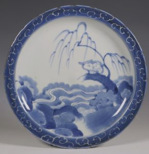 Japanese Arita Blue and White Plate 18thC