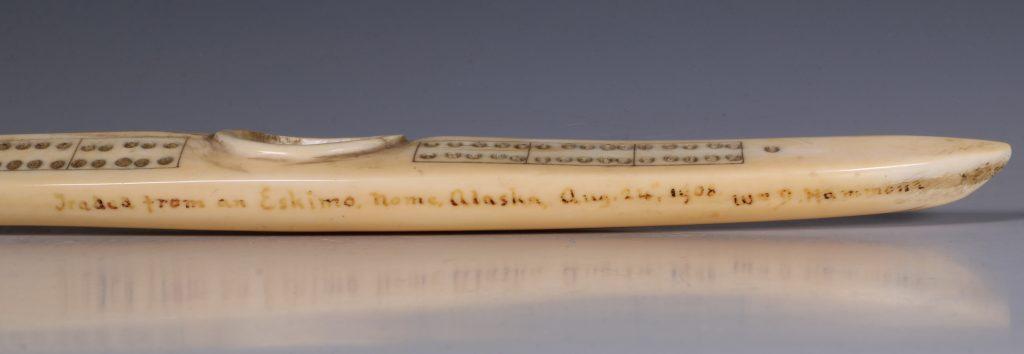 Eskimo Marine Ivory Cribbage Board 19/20thC 8