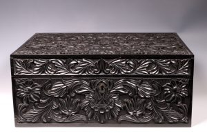 Carved Ebony Box Sri Lanka C1840/50