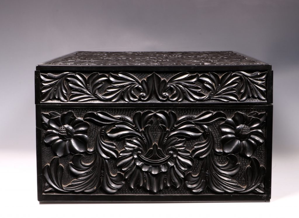 Carved Ebony Box Sri Lanka C1840/50 4
