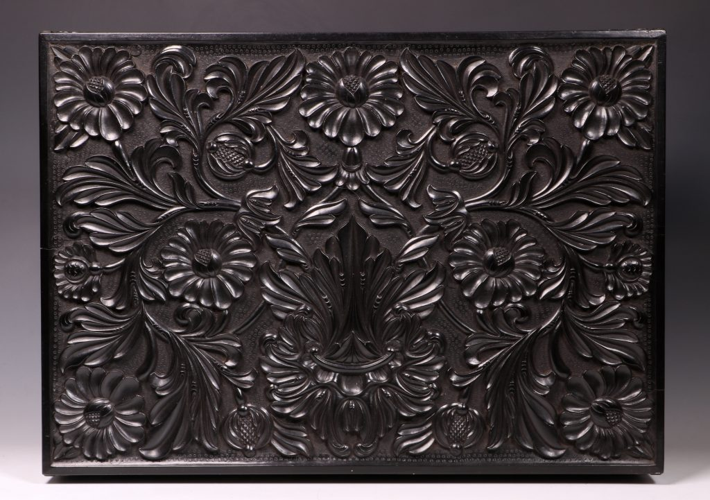 Carved Ebony Box Sri Lanka C1840/50 6