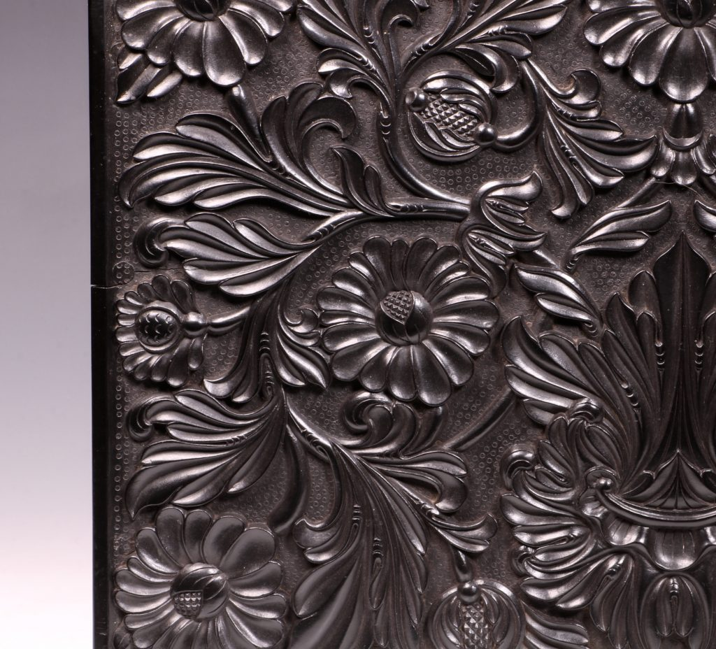 Carved Ebony Box Sri Lanka C1840/50 10