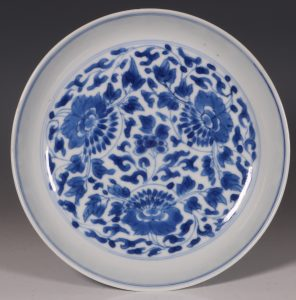 Blue and White Saucer Dish Kangxi