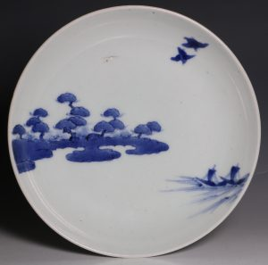 Japanese Arita Blue and White Dish L17thC