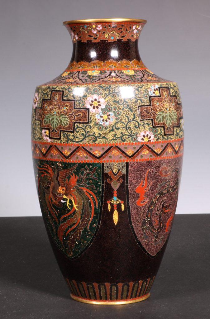 Japanese Cloisonne Vase Meiji 1