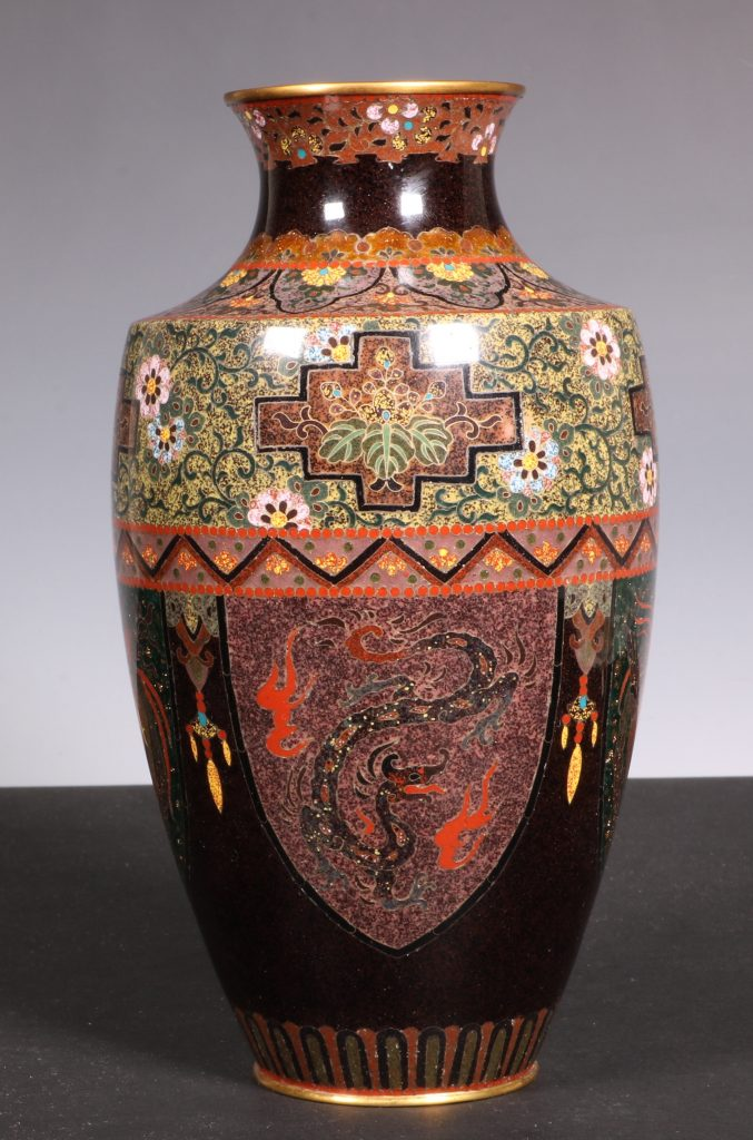 Japanese Cloisonne Vase Meiji 2