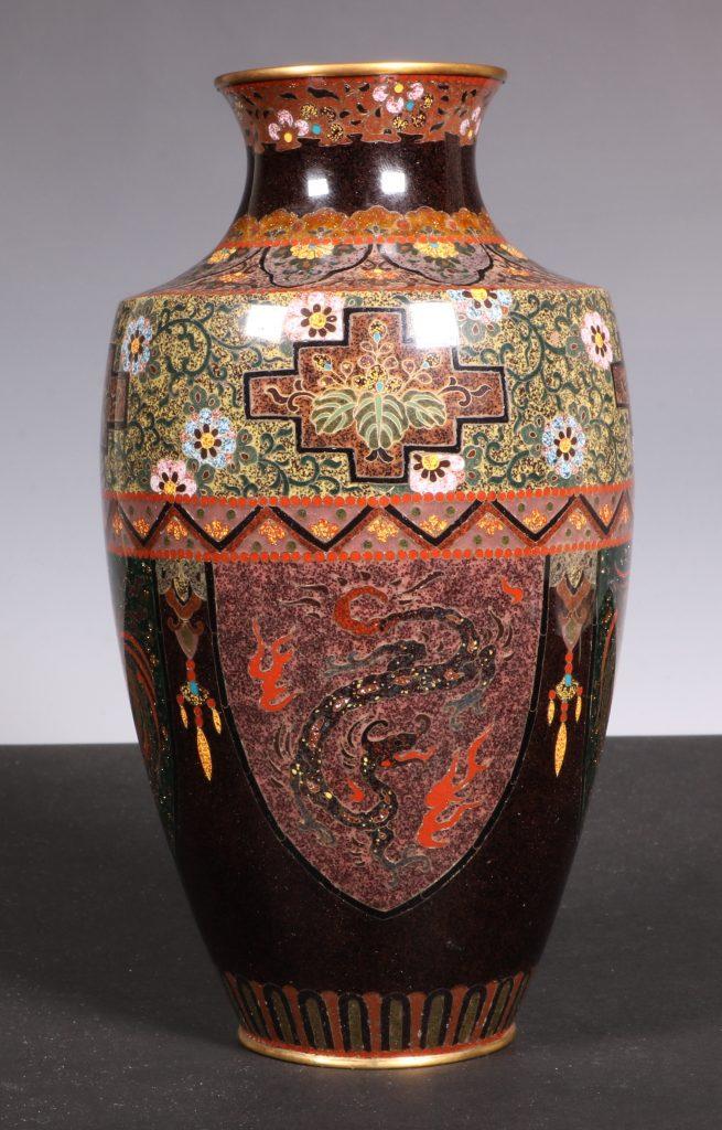 Japanese Cloisonne Vase Meiji 5
