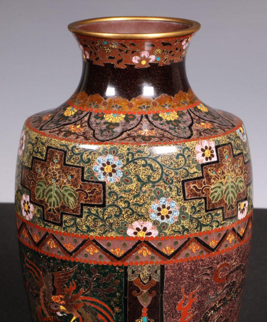 Japanese Cloisonne Vase Meiji 9