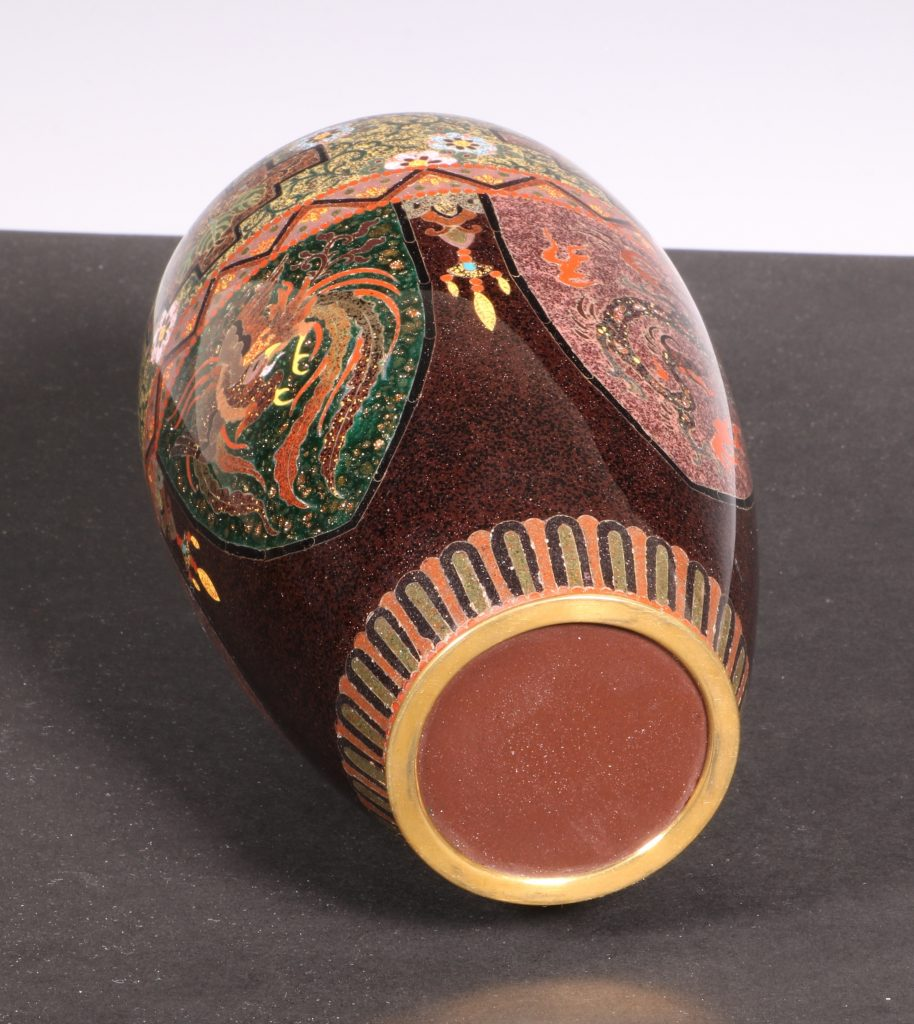 Japanese Cloisonne Vase Meiji 10