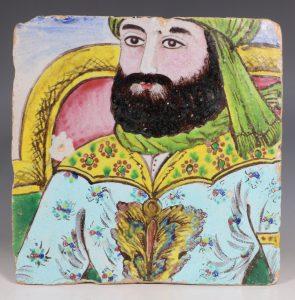 Qajar Tile 19thC