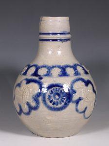 A Westerwald Stoneware Bottle 17thC