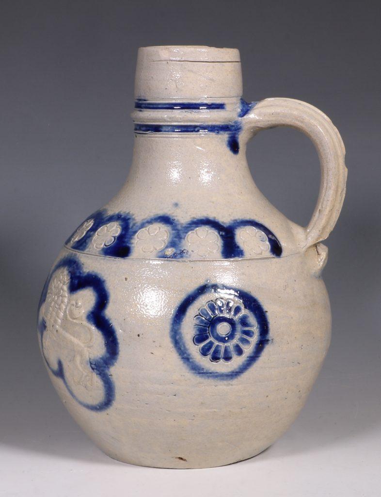 A Westerwald Stoneware Bottle 17thC 2