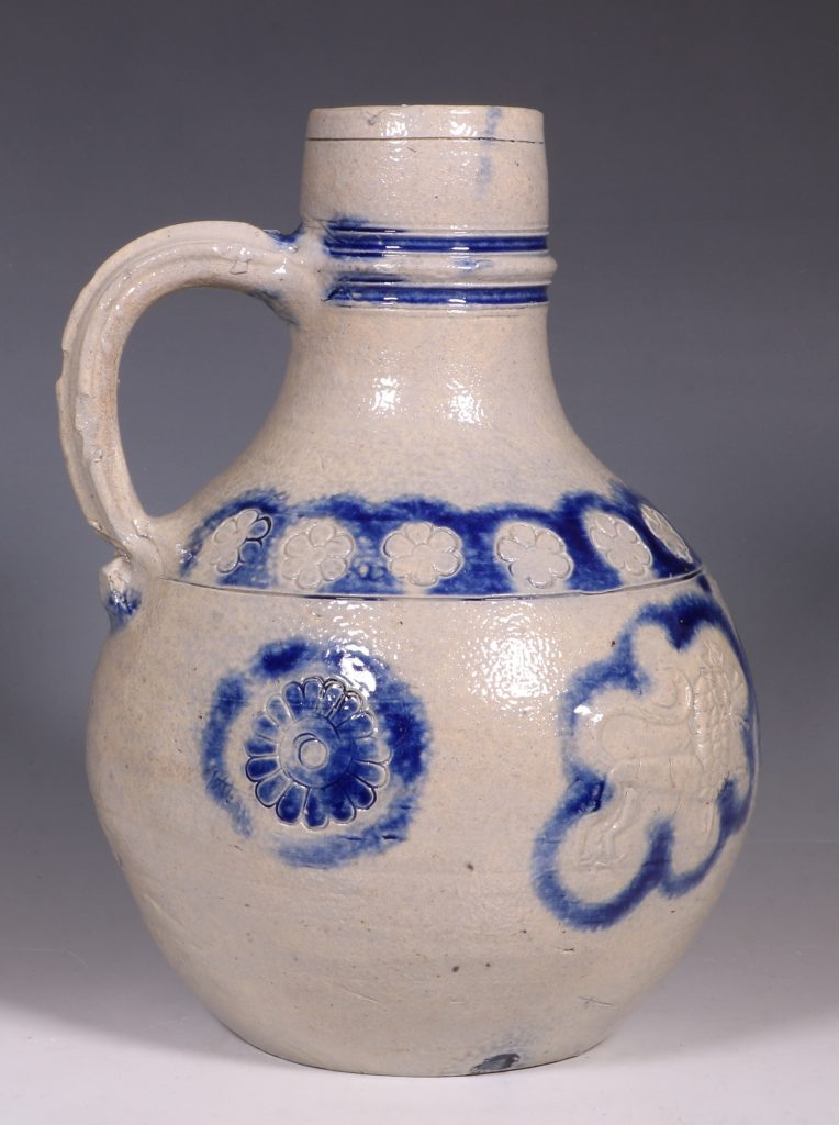 A Westerwald Stoneware Bottle 17thC 4