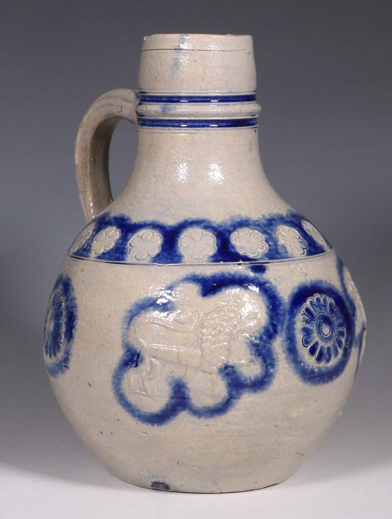 A Westerwald Stoneware Bottle 17thC 5