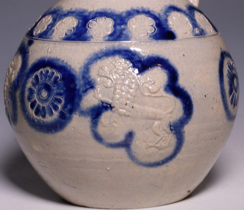 A Westerwald Stoneware Bottle 17thC 6
