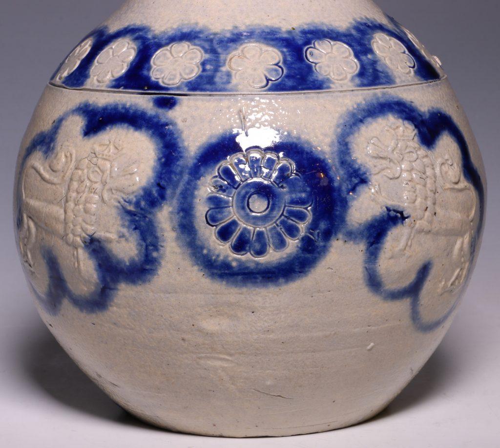 A Westerwald Stoneware Bottle 17thC 7