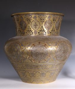 A Fine Large Cairoware Vase Egypt L19thC