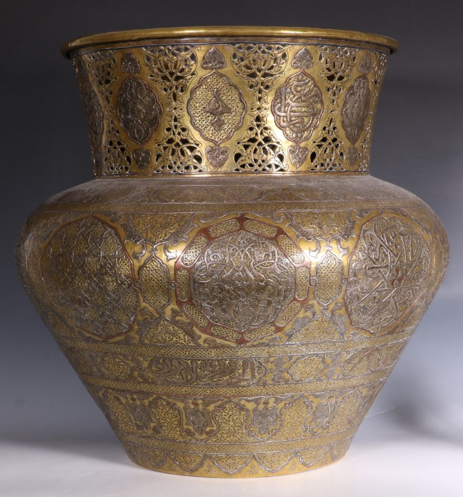 A Fine Large Cairoware Vase Egypt L19thC 1