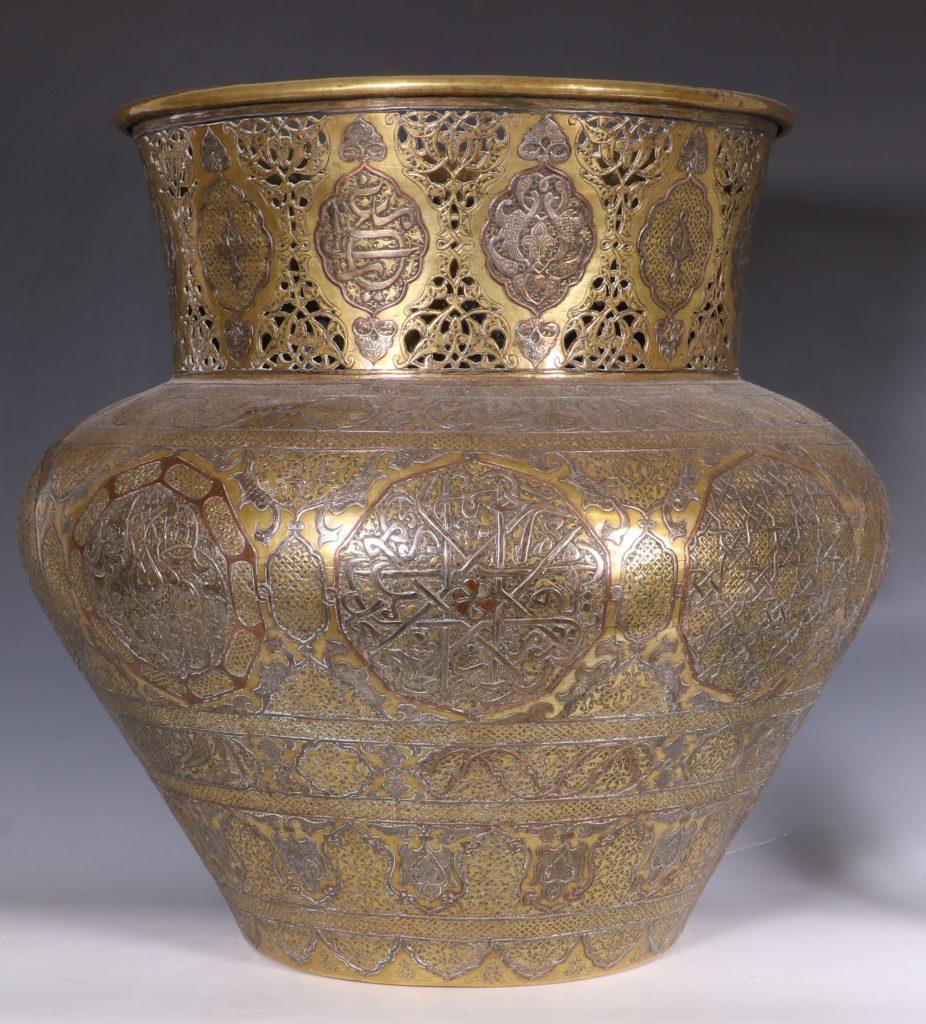 A Fine Large Cairoware Vase Egypt L19thC 2