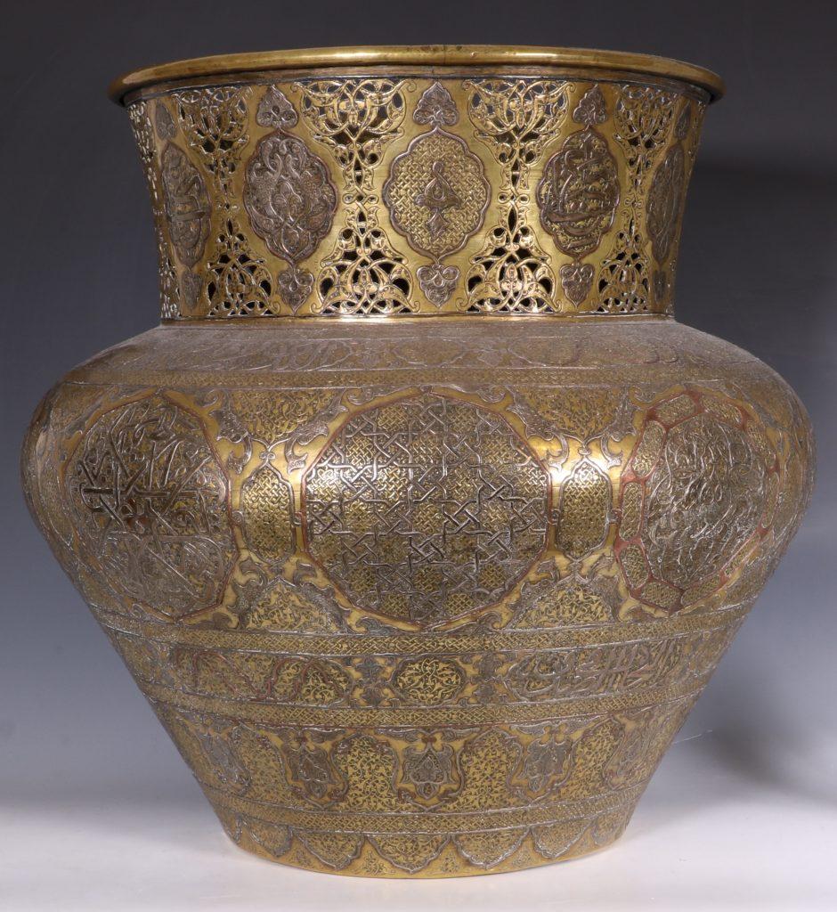 A Fine Large Cairoware Vase Egypt L19thC 3