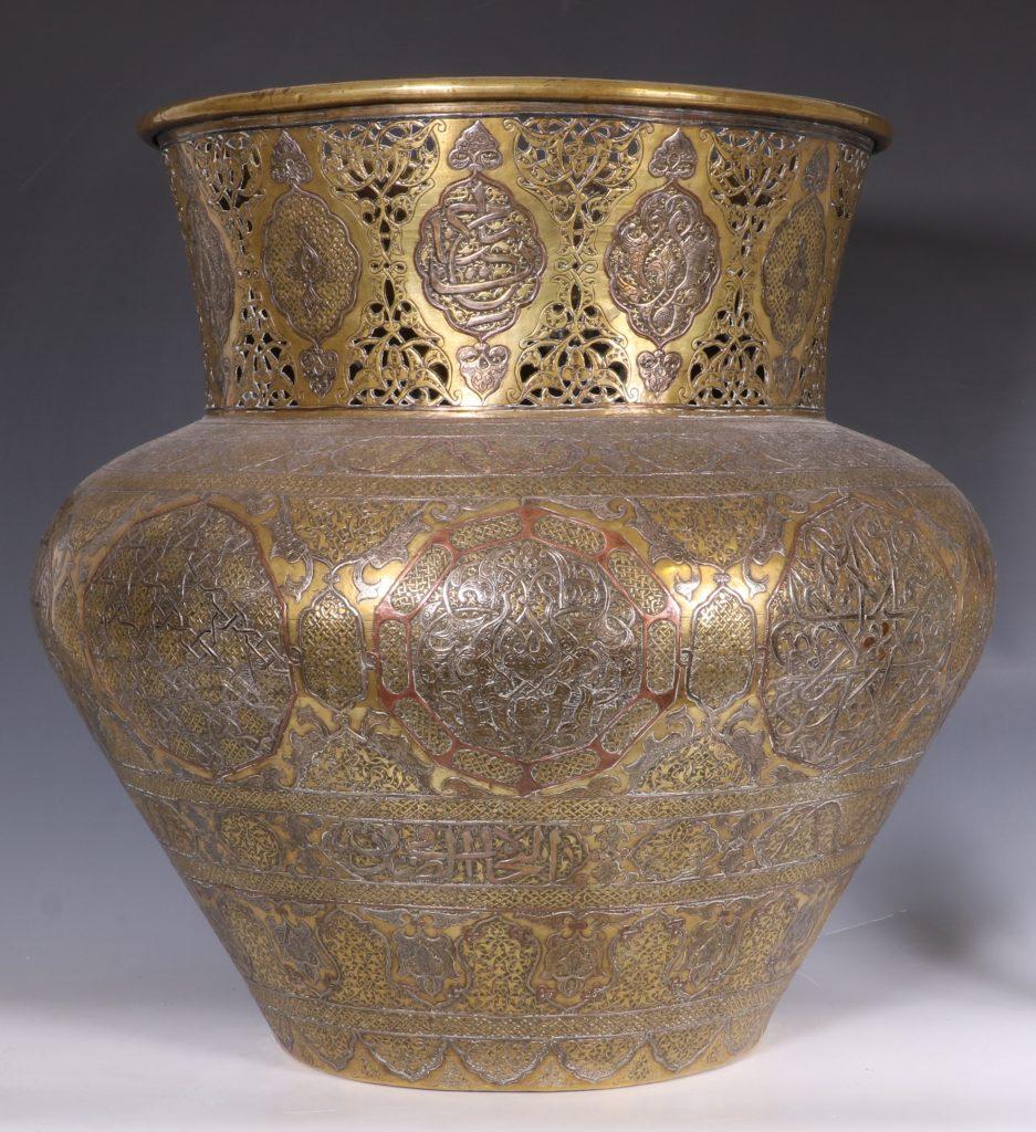 A Fine Large Cairoware Vase Egypt L19thC 4