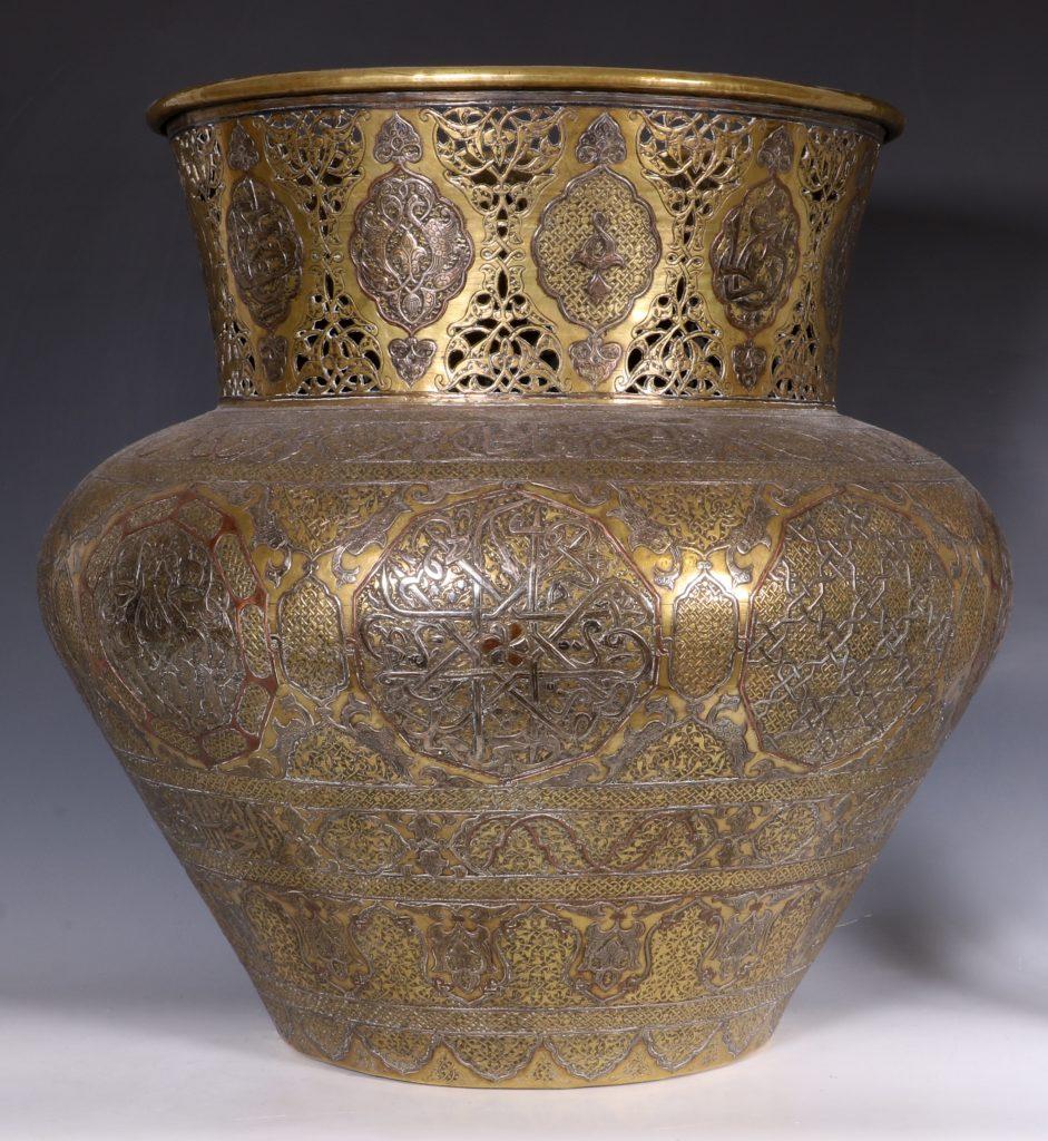 A Fine Large Cairoware Vase Egypt L19thC 5