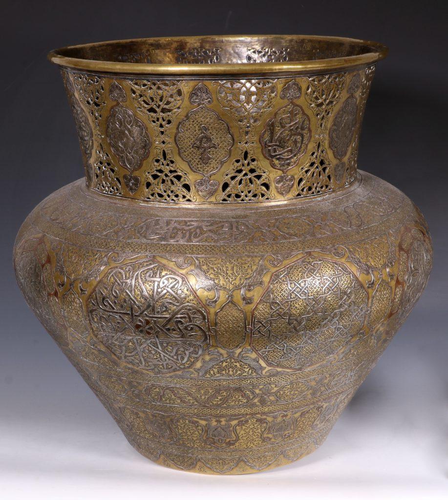 A Fine Large Cairoware Vase Egypt L19thC 6