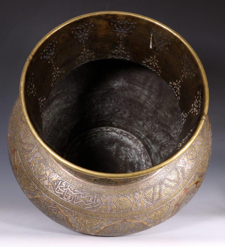 A Fine Large Cairoware Vase Egypt L19thC 7