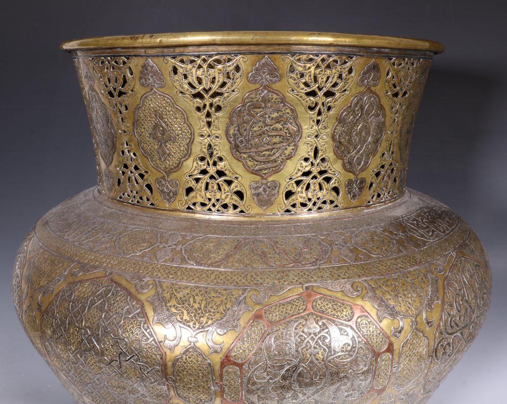 A Fine Large Cairoware Vase Egypt L19thC 11