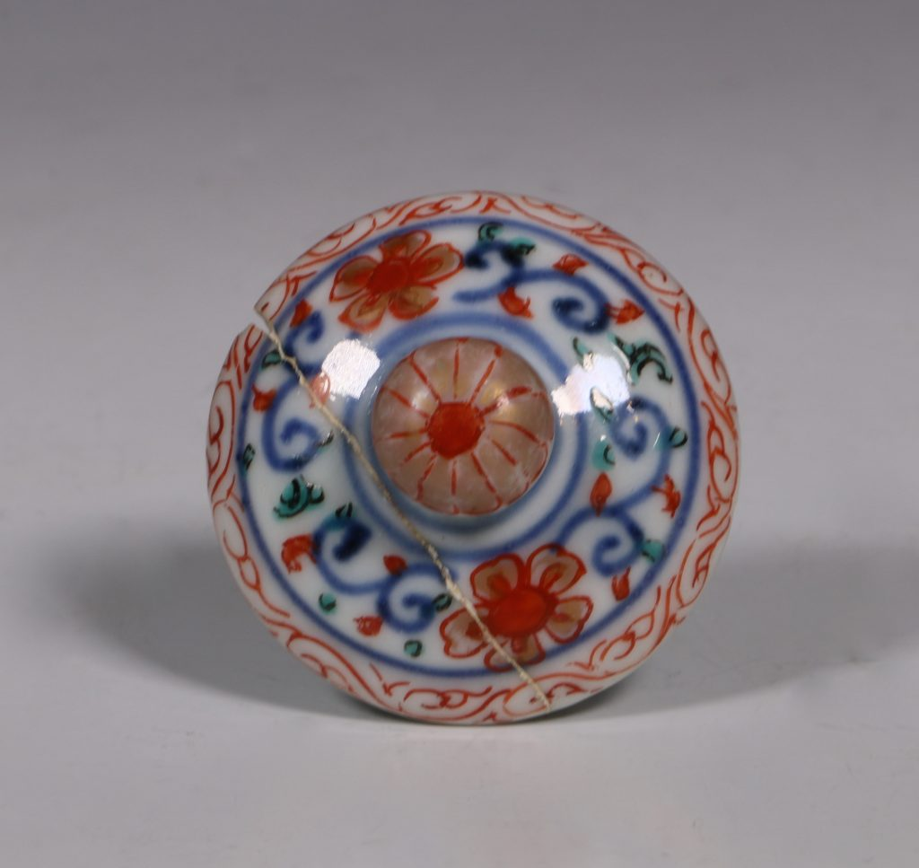 An Imari Ewer and Cover E18thC 6