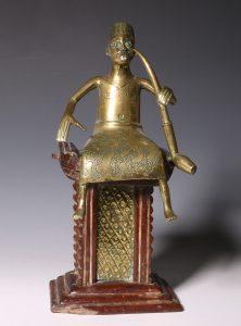 Fon Brass Seated Figure