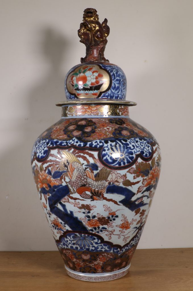 Japanese Imari Vase and a Cover L17thC 1
