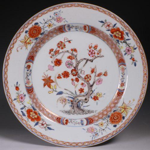A Rose Imari Plate Yongzheng C1722/36