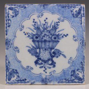 An Rare Liverpool Delft Tile C1750/75