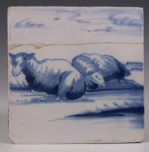 English Delft Tile C1750/70