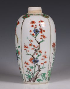 A Famille Verte Ovoid Vase Kangxi C1700