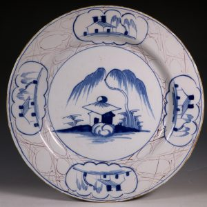 English Delft A M Charger C1760