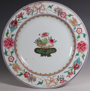 A Chinese Famille Rose Plate C1730/45